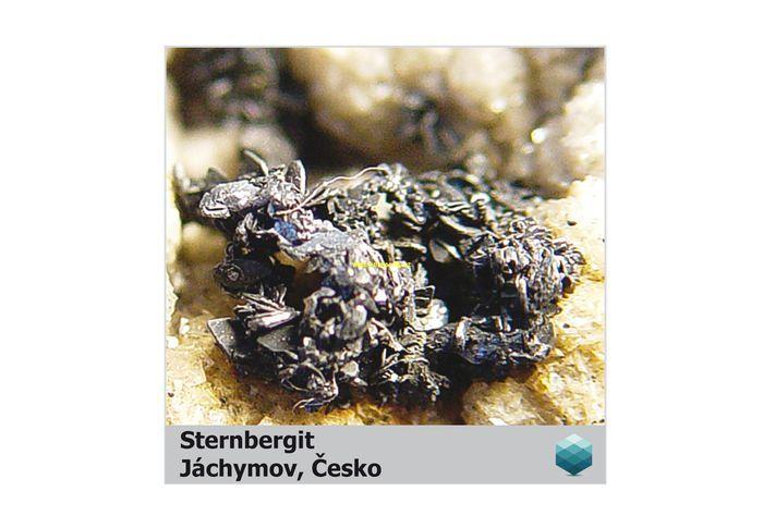 Fotomagnet na ledničku - Sternbergit - Jáchymov - 75 x 75 mm E-meteority