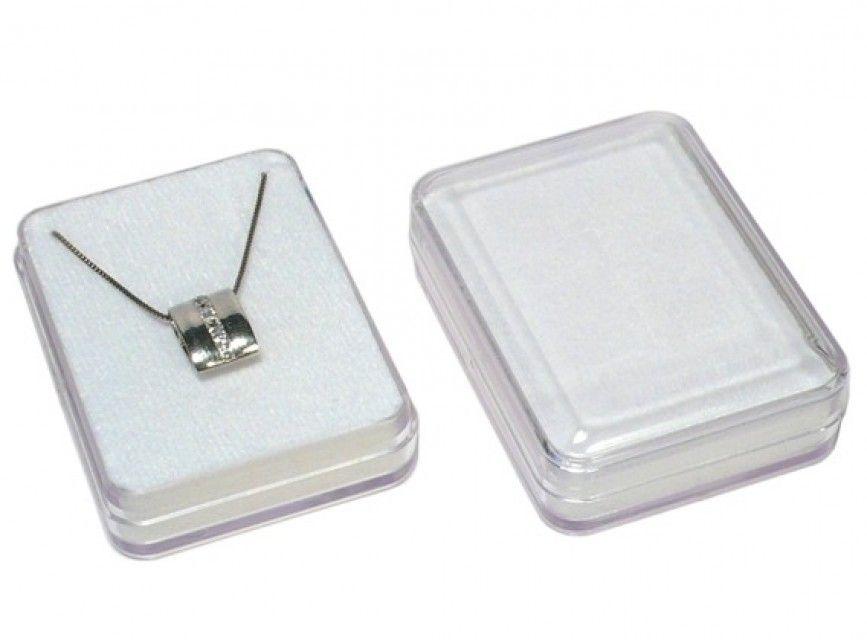 Krabička plastová s bílým podkladem 56x42x17 mm E-meteority