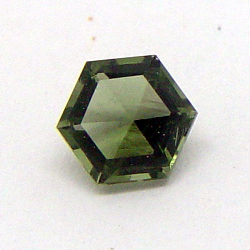 Vltavín brus hexagon 6x6 mm E-meteority