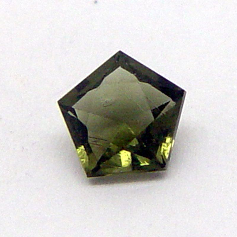 Vltavín brus pentagon 4x4 mm E-meteority