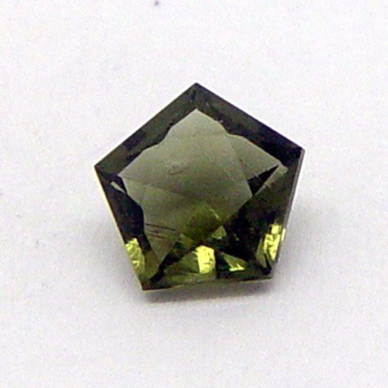 Vltavín brus pentagon 7x7 mm E-meteority