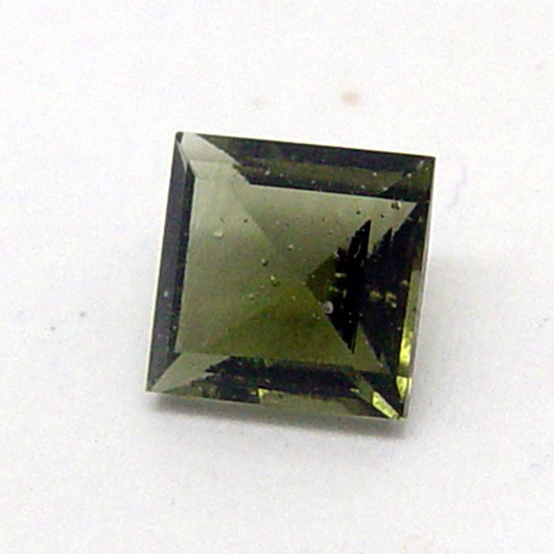 Vltavín brus roháček 6x6 mm E-meteority